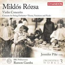 Miklos Rozsa (1907-1995): Orchesterwerke Vol.3, CD