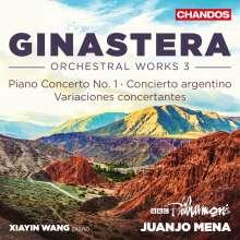 Alberto Ginastera (1916-1983): Orchesterwerke Vol.3, CD