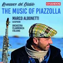 """Astor Piazzolla (1921-1992): Werke für Saxophon & Orchester """"Romance del Diablo"""", CD"""