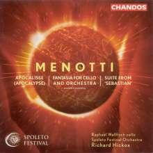 Gian-Carlo Menotti (1911-2007): Fantasie für Cello & Orchester, CD