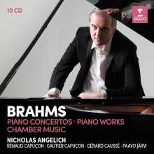 Johannes Brahms (1833-1897): Klavierkonzerte Nr.1 & 2, 10 CDs