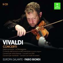Antonio Vivaldi (1678-1741): Vivaldi Concerti (Fabio Biondi & Europa Galante), 9 CDs