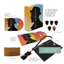 Johannes Oerding: Konturen (Limited Fan-Box), 2 CDs, 1 DVD, 1 T-Shirt und 1 Merchandise