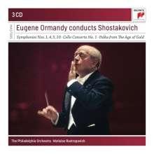 Dmitri Schostakowitsch (1906-1975): Symphonien Nr.1,4,5,10, 3 CDs