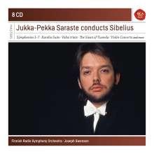 Jean Sibelius (1865-1957): Jukka-Pekka Saraste conducts Sibelius, 8 CDs