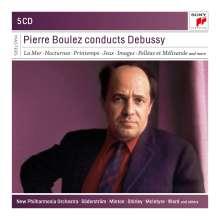 Claude Debussy (1862-1918): Pierre Boulez dirigiert Debussy, 5 CDs