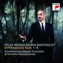 Felix Mendelssohn Bartholdy (1809-1847): Symphonien Nr.1-5, 3 CDs