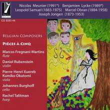 Rachel Talitman - Belgian Composers (Pieces a cinq), CD
