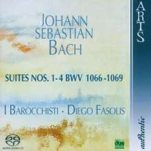 Johann Sebastian Bach (1685-1750): Orchestersuiten Nr.1-4, Super Audio CD