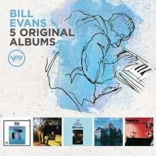 Bill Evans (Piano) (1929-1980): 5 Original Albums (60 Jahre Verve), 5 CDs