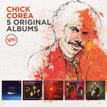 Chick Corea (1941-2021): 5 Original Albums (60 Jahre Verve), 5 CDs