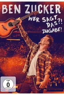 Ben Zucker: Wer sagt das?! Zugabe!, DVD