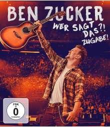 Ben Zucker: Wer sagt das?! Zugabe!, Blu-ray Disc