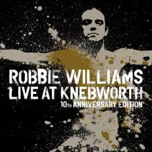 Robbie Williams: Live At Knebworth 2003 (10th Anniversary) (Ltd. Deluxe Edition) (2 DVDs + 2 CDs + 1 Blu-ray Disc + Buch), 2 DVDs, 2 CDs und 1 Blu-ray Disc