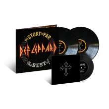 """Def Leppard: The Story So Far: The Best Of Def Leppard (Limited-Edition), 2 LPs und 1 Single 7"""""""
