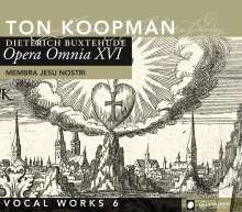 Dieterich Buxtehude (1637-1707): Opera Omnia XVI (Vokalwerke 6), CD