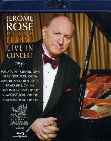 Jerome Rose plays Brahms, Blu-ray Disc