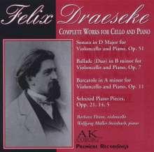 Felix Draeseke (1835-1913): Werke für Cello & Klavier, CD