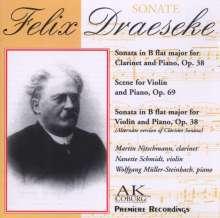Felix Draeseke (1835-1913): Sonate für Klarinette & Klavier op.38, CD