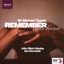 """Michael Tippett (1905-1998): Lieder """"Remember Your Lovers"""", CD"""