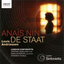 Louis Andriessen (geb. 1939): Anais Nin für Sopran & Orchester, CD