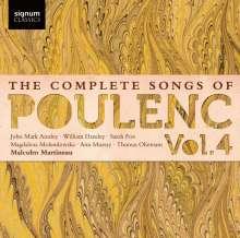Francis Poulenc (1899-1963): Sämtliche Lieder Vol.4, CD