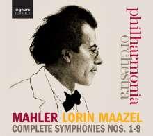 Gustav Mahler (1860-1911): Symphonien Nr.1-9, 15 CDs