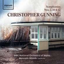 Christopher Gunning (geb. 1944): Symphonien Nr.2,10,12, CD