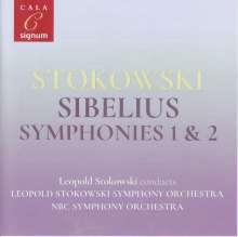 Jean Sibelius (1865-1957): Symphonien Nr.1 & 2, CD