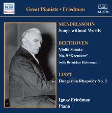 Felix Mendelssohn Bartholdy (1809-1847): Lieder ohne Worte (Ausz.), CD