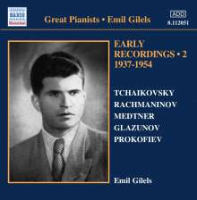 Emil Gilels - Early Recordings Vol.2 (1937-1954), CD