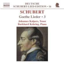 "Franz Schubert (1797-1828): Lieder ""Goethe-Lieder"" Vol.3, CD"
