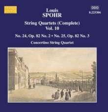 Louis Spohr (1784-1859): Streichquartette Vol.10, CD