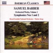Samuel Barber (1910-1981): Symphonien Nr.1 & 2, CD
