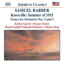 Samuel Barber (1910-1981): Essays for Orchestra Nr.2 & 3, CD