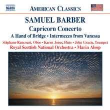 Samuel Barber (1910-1981): Capricorn Concerto für Trompete, Oboe, Flöte & Orchester, CD