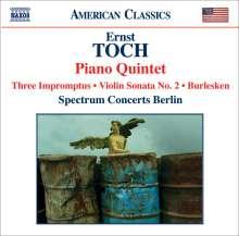 Ernst Toch (1887-1964): Klavierquintett op.64, CD