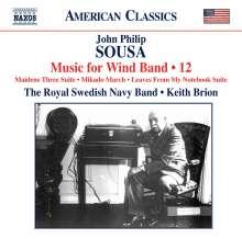 John Philip Sousa (1854-1932): Music for Wind Band Vol.12, CD
