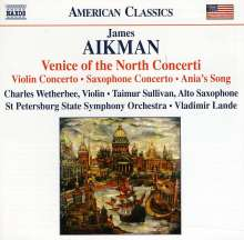 "James Aikman (geb. 1959): Violinkonzert ""Lines in Motion"", CD"