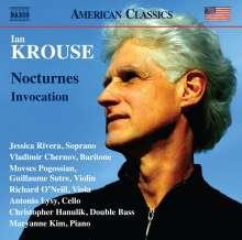 Ian Krouse (geb. 1956): Nocturnes op.60 für Bariton & Streicher, CD