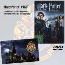 Harry Potter und der Feuerkelch (Geschenkset mit Harry Potter Schneidbrett »Schloss Hogwarts«), 1 DVD und 1 Merchandise