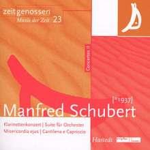 Manfred Schubert (1937-2011): Suite für Orchester, CD