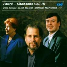 Gabriel Faure (1845-1924): Lieder Vol.3, CD