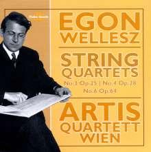 Egon Wellesz (1885-1974): Streichquartette Nr.3,4,6, CD