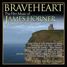 Filmmusik: Braveheart: The Film Music Of James Horner For Solo Piano, CD