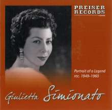 Giulietta Simionato singt Arien & Lieder, CD