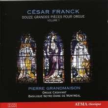 Cesar Franck (1822-1890): Douze Grandes Pieces pour Orgue Vol.1, 2 CDs