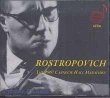 Mstislav Rostropovich  - The 1967 Carnegie Hall Marathon, 6 CDs