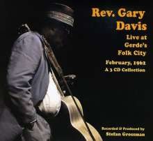 Blind Gary Davis: Rev.Gary Davis Live At Gerdes, 3 CDs