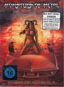 Monsters Of Metal Vol.10, 2 DVDs und 1 Blu-ray Disc